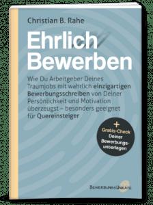 Buchcover Ehrlich Bewerben Christian Rahe